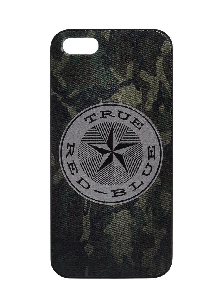 Купить Клип-кейс для iPhone 5/5s «True-Red-Blue», цвет милитари по Нижнему Новгороду