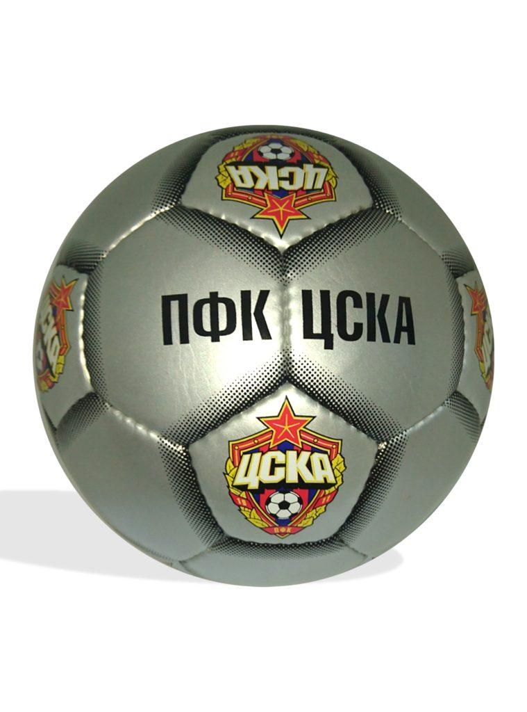 Купить Мяч футбольный ПФК ЦСКА,серебро, размер 5 по Нижнему Новгороду