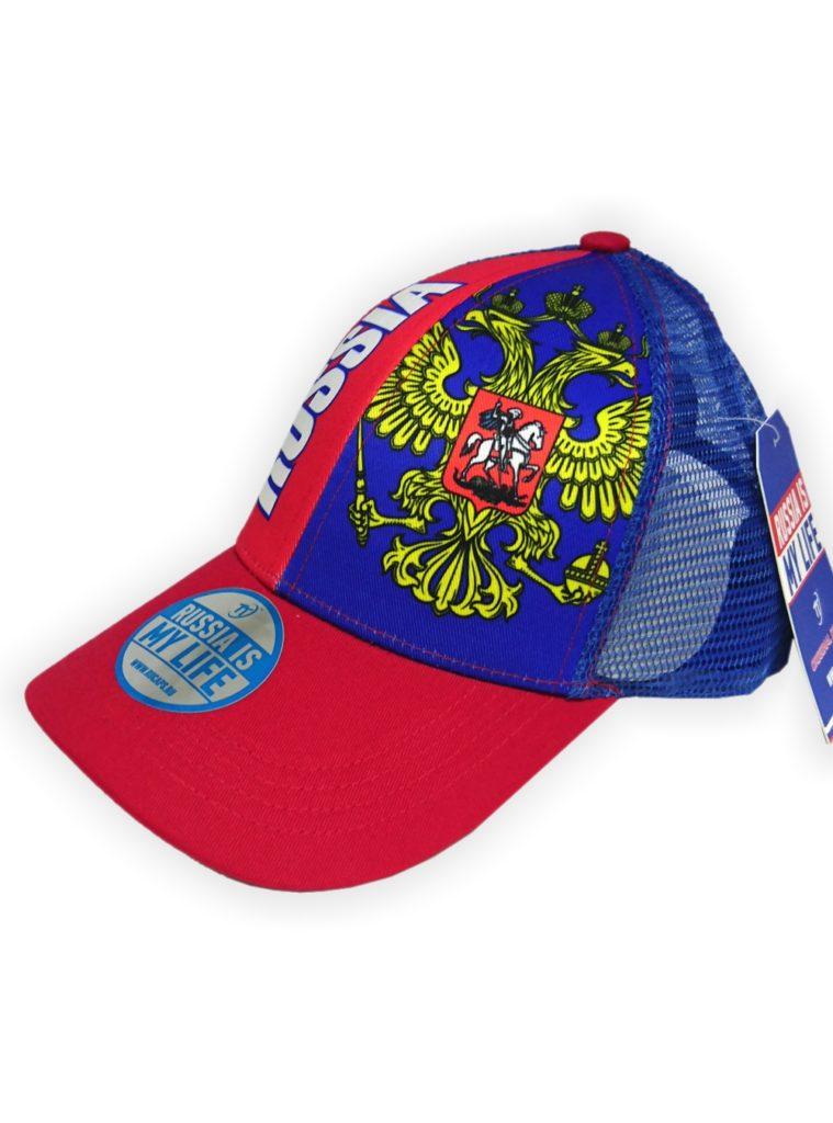 Купить Бейсболка Россия летняя, цвет красный, синий по Нижнему Новгороду