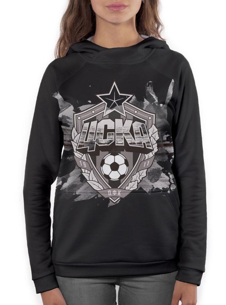 Купить Худи женское «Эмблема», цвет чёрный (XL) по Нижнему Новгороду