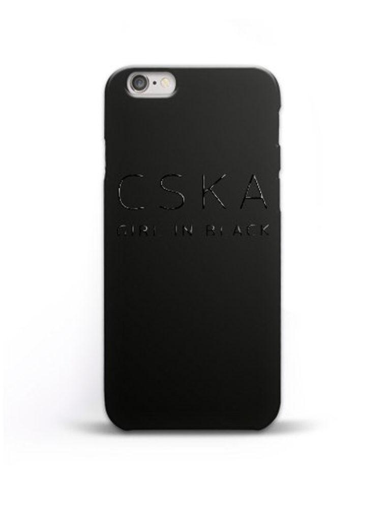 Купить Клип-кейс «CSKA GIRL IN BLACK» для iPhone 7, цвет чёрный по Нижнему Новгороду