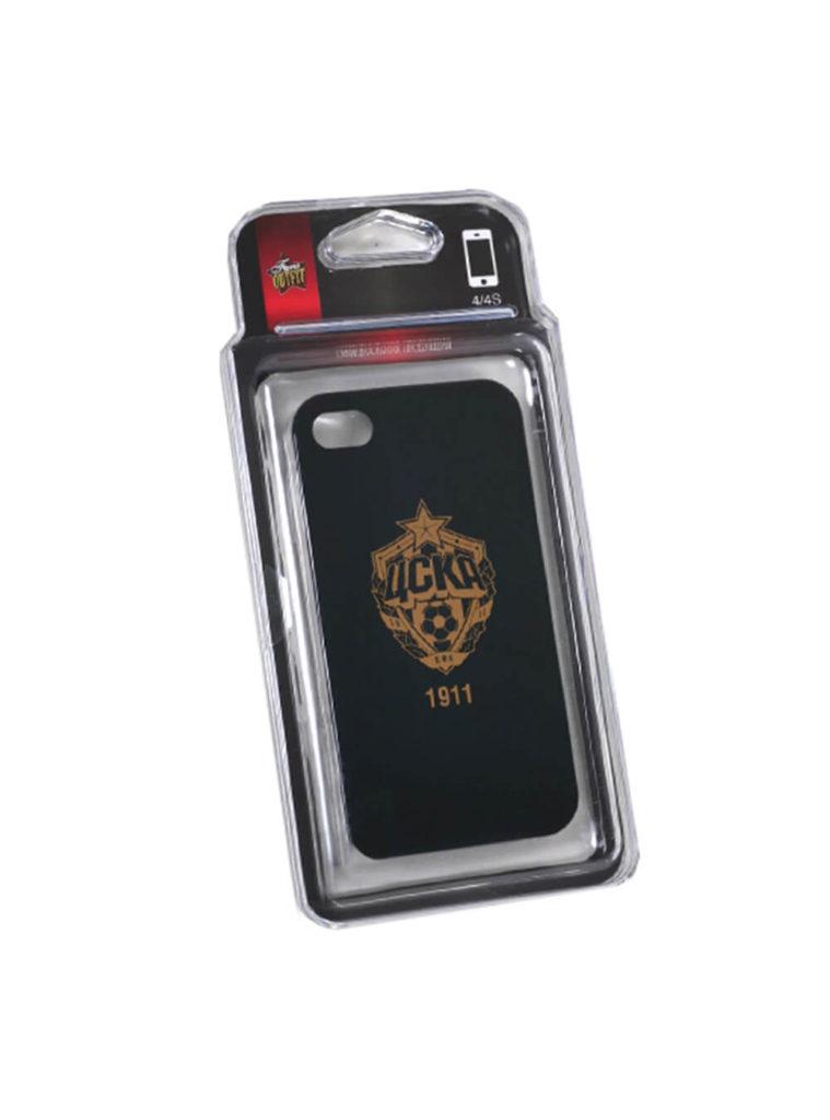 Купить Клип-кейс для iPhone 4/4S черный с золотой эмблемой по Нижнему Новгороду