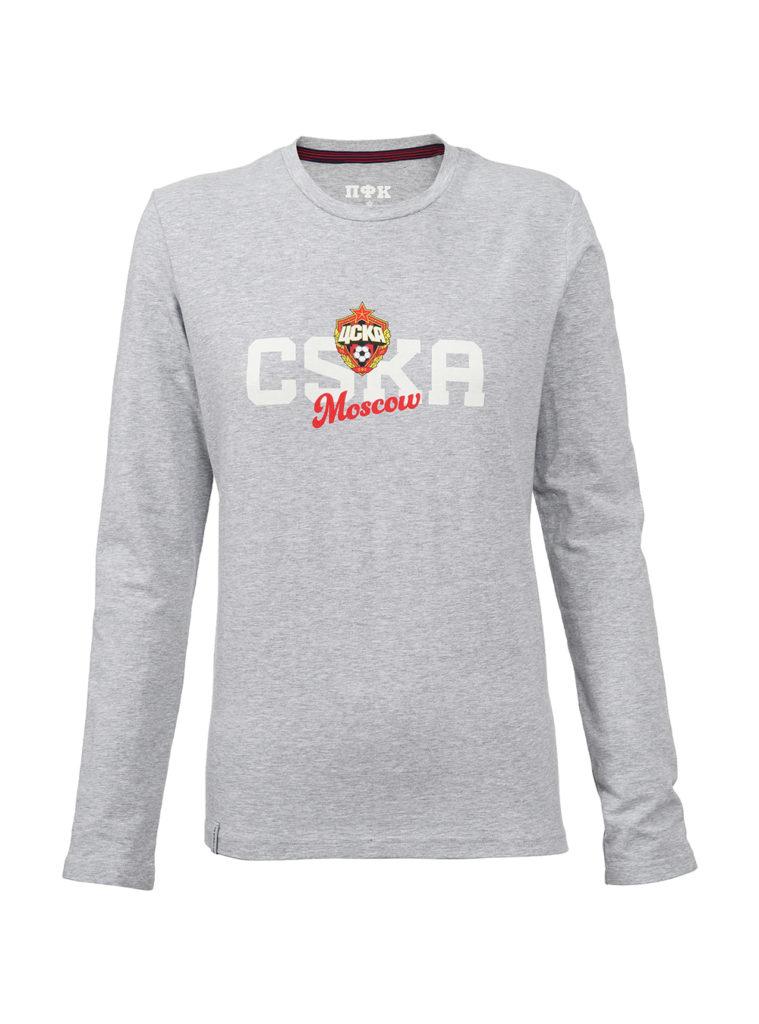 Купить Футболка с длинным рукавом женская «CSKA Mosсow», цвет серый (XS) по Нижнему Новгороду