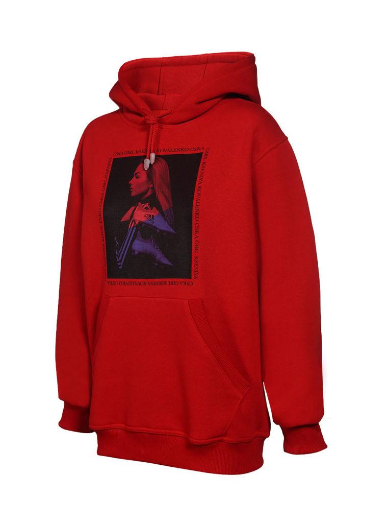 Купить Худи женское «Коваленко»,цвет красный (M) по Нижнему Новгороду
