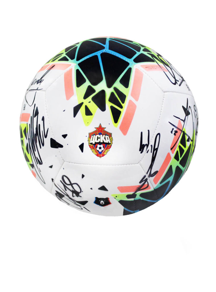 Купить Мяч футбольный Nike RPL PTCH (FA19) с эмблемой ПФК ЦСКА с автографами, размер 5 по Нижнему Новгороду