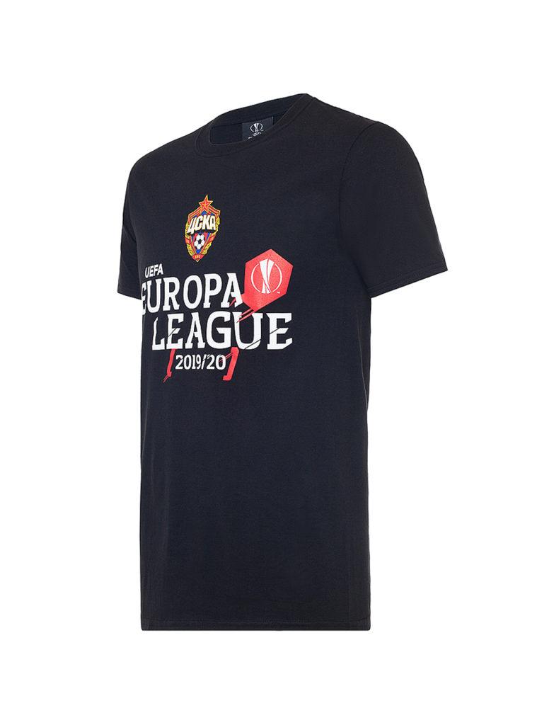 Купить Футболка EUROPA LEAGUE, цвет чёрный (XL) по Нижнему Новгороду