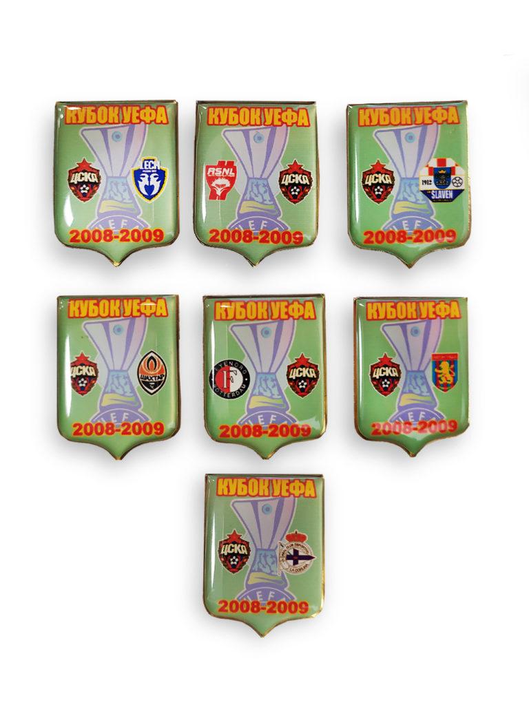 Купить Набор коллекционных значков Кубок УЕФА 2008-2009 (7 штук) по Нижнему Новгороду