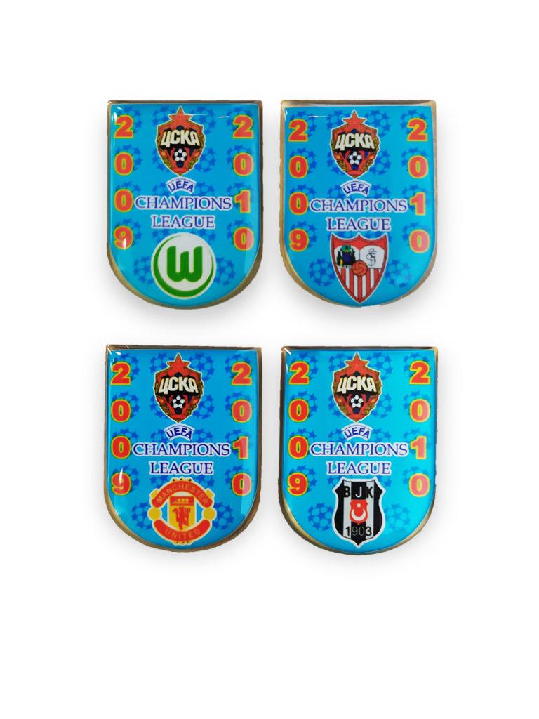Купить Набор коллекционных значков ЛЧ 2009-2010 (4 шт) по Нижнему Новгороду