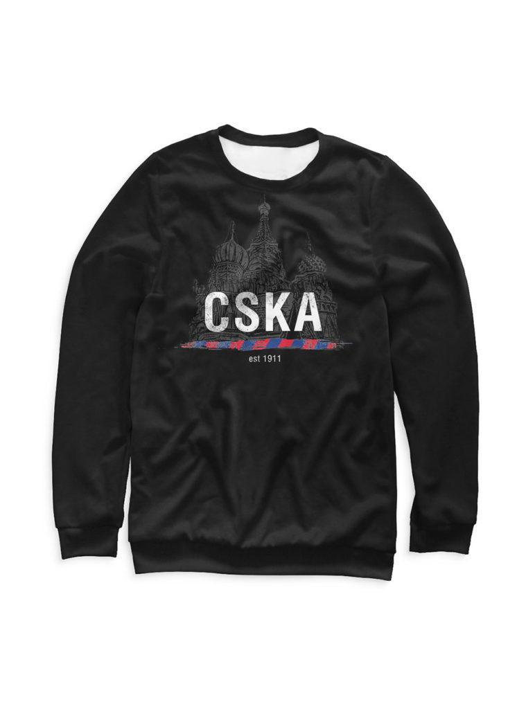 Купить Свитшот детский «CSKA 1911», цвет черный (158) по Нижнему Новгороду