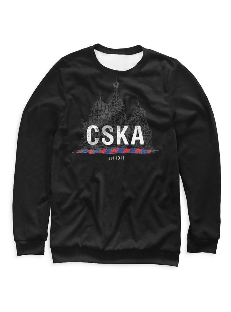 Купить Свитшот мужской «CSKA 1911», цвет черный (L) по Нижнему Новгороду