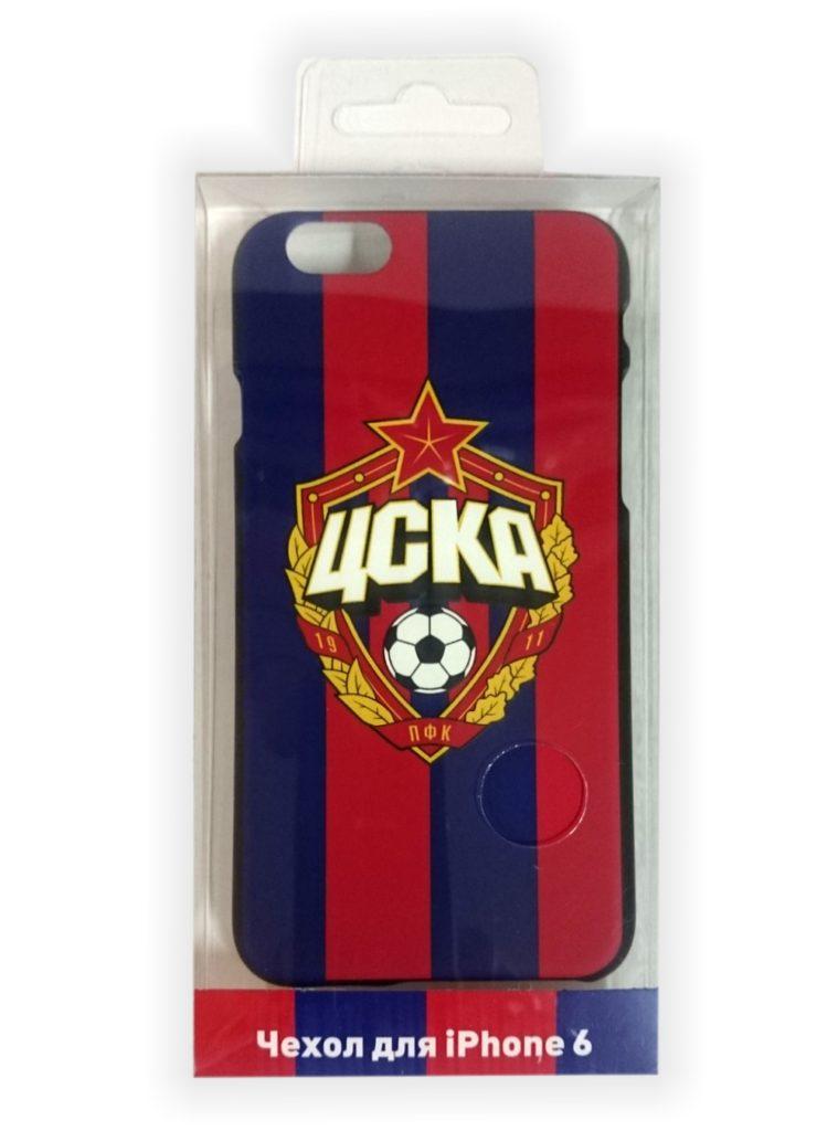 Купить Клип-кейс для iPhone 6/6S с объемной эмблемой ПФК ЦСКА, цвет красно-синий по Нижнему Новгороду