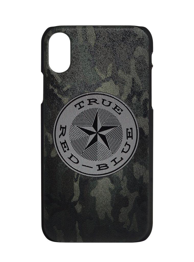 Купить Клип-кейс для iPhone ХS Max «True-Red-Blue», цвет милитари по Нижнему Новгороду
