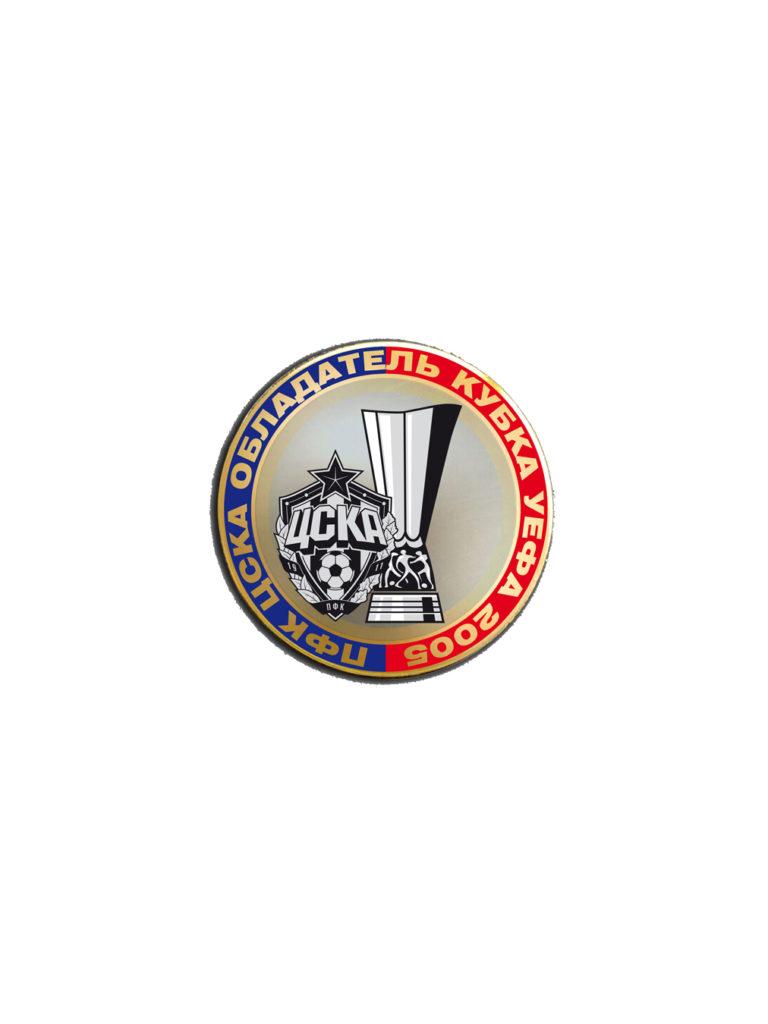 Купить Монета сувенирная «ПФК ЦСКА-Обладатель Кубка УЕФА 2005» по Нижнему Новгороду