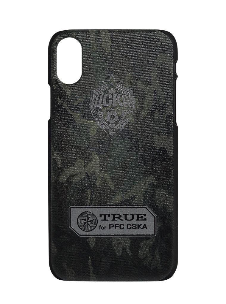 Купить Клип-кейс для iPhone X «Эмблема», цвет милитари по Нижнему Новгороду