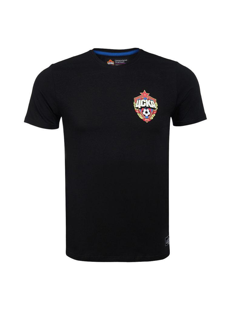 Купить Футболка «Эмблема ПФК ЦСКА», цвет чёрный (L) по Нижнему Новгороду