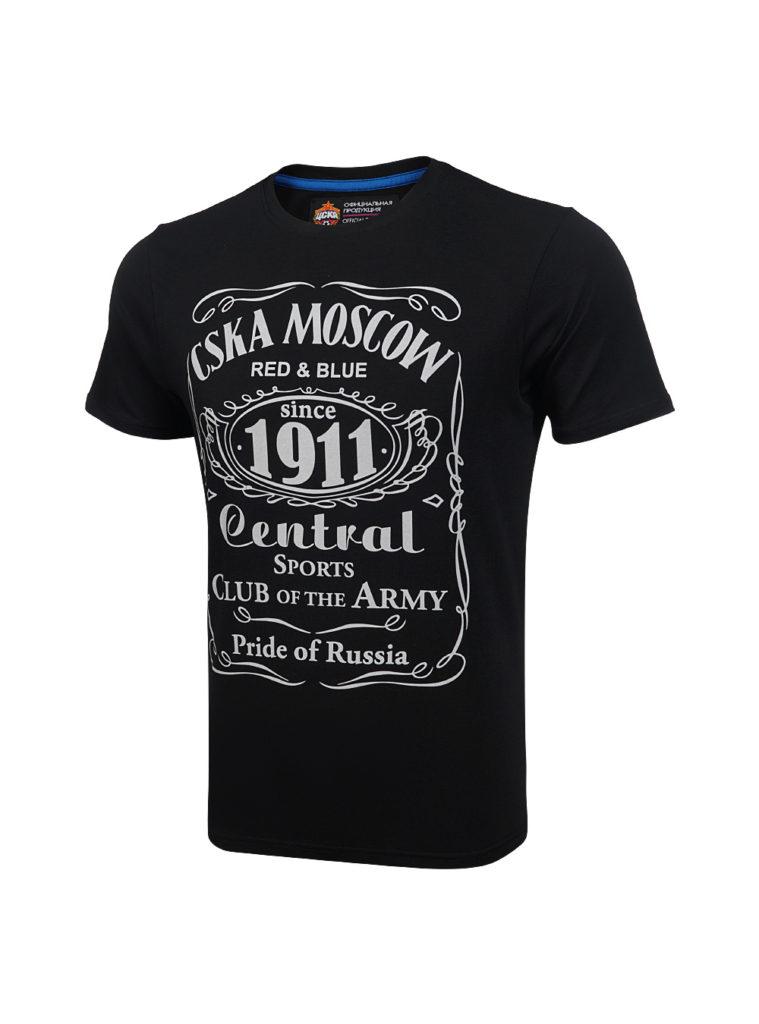 Купить Футболка » CSKA MOSCOW 1911 «cover, цвет чёрный (S) по Нижнему Новгороду