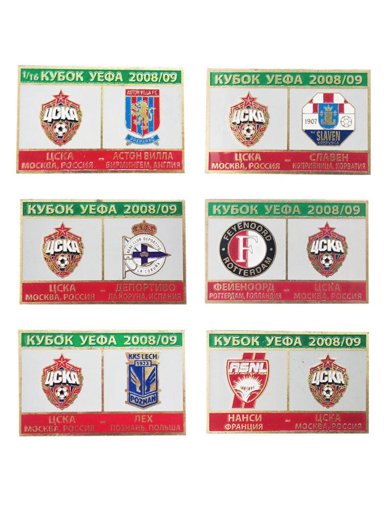 Купить Набор коллекционных значков Кубок УЕФА 2008-2009 (6 шт.) по Нижнему Новгороду
