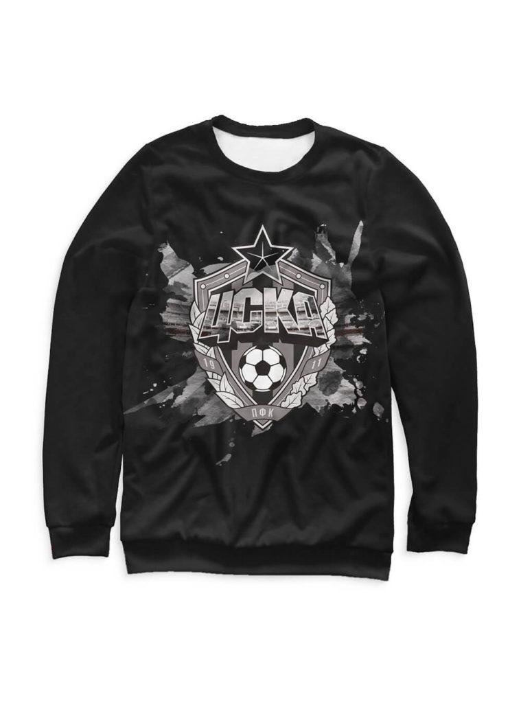 Купить Свитшот мужской «Эмблема», цвет чёрный (XS) по Нижнему Новгороду