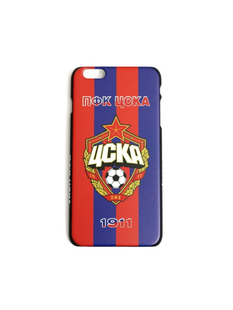 Купить Клип-кейс ПФК ЦСКА 1911 для iPhone 6+ красно-синий по Нижнему Новгороду