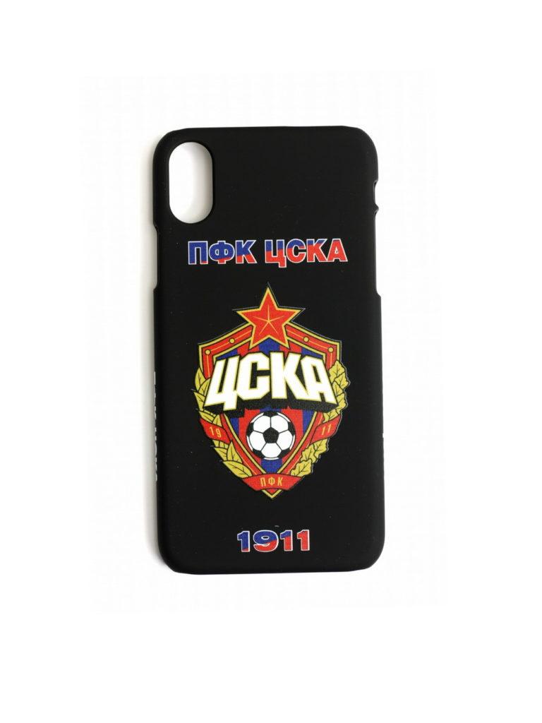 Купить Клип-кейс ПФК ЦСКА 1911 для iPhone X чёрный по Нижнему Новгороду