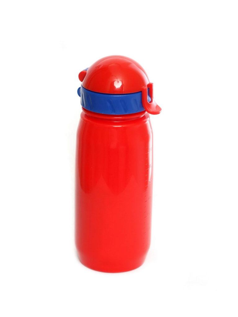Купить Бутылка для воды с трубочкой 400 мл,  цвет красный по Нижнему Новгороду