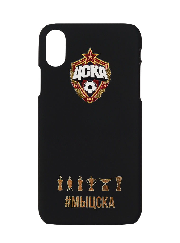 Купить Клип-кейс для iPhone ХR #МЫЦСКА чёрный по Нижнему Новгороду