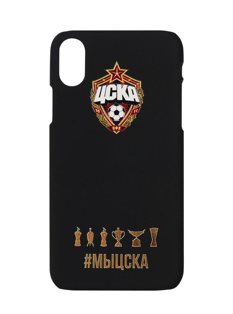Купить Клип-кейс для iPhone ХS Max #МЫЦСКА чёрный по Нижнему Новгороду