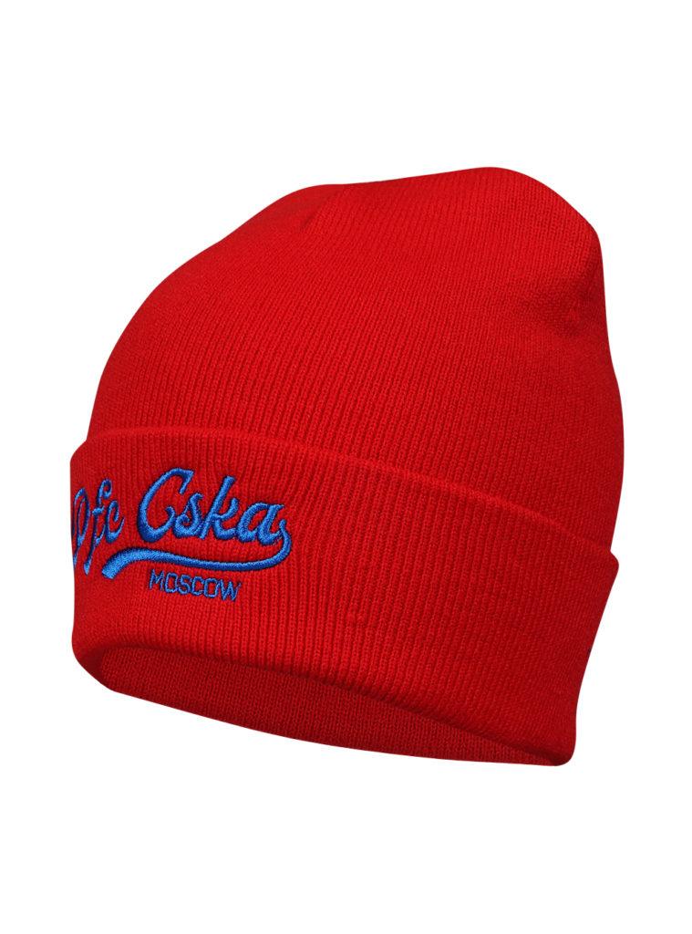 Купить Шапка PFC CSKA с вышивкой, цвет красный по Нижнему Новгороду