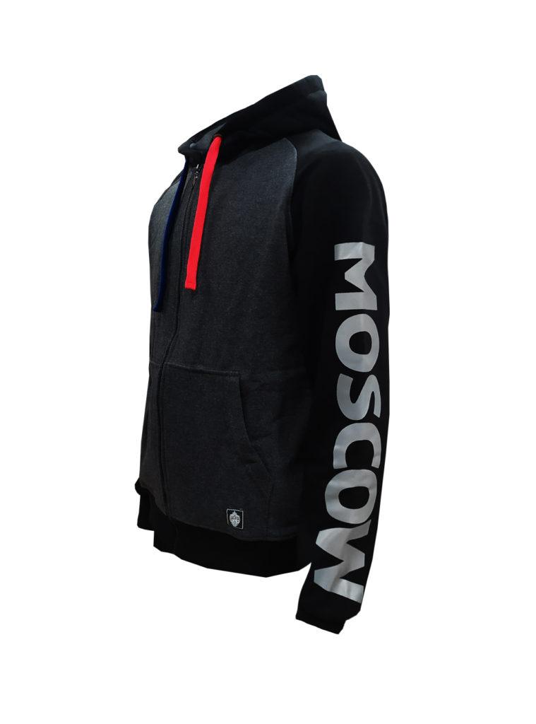 Купить Толстовка на молнии PFC CSKA MOSCOW, цвет серый (XL) по Нижнему Новгороду