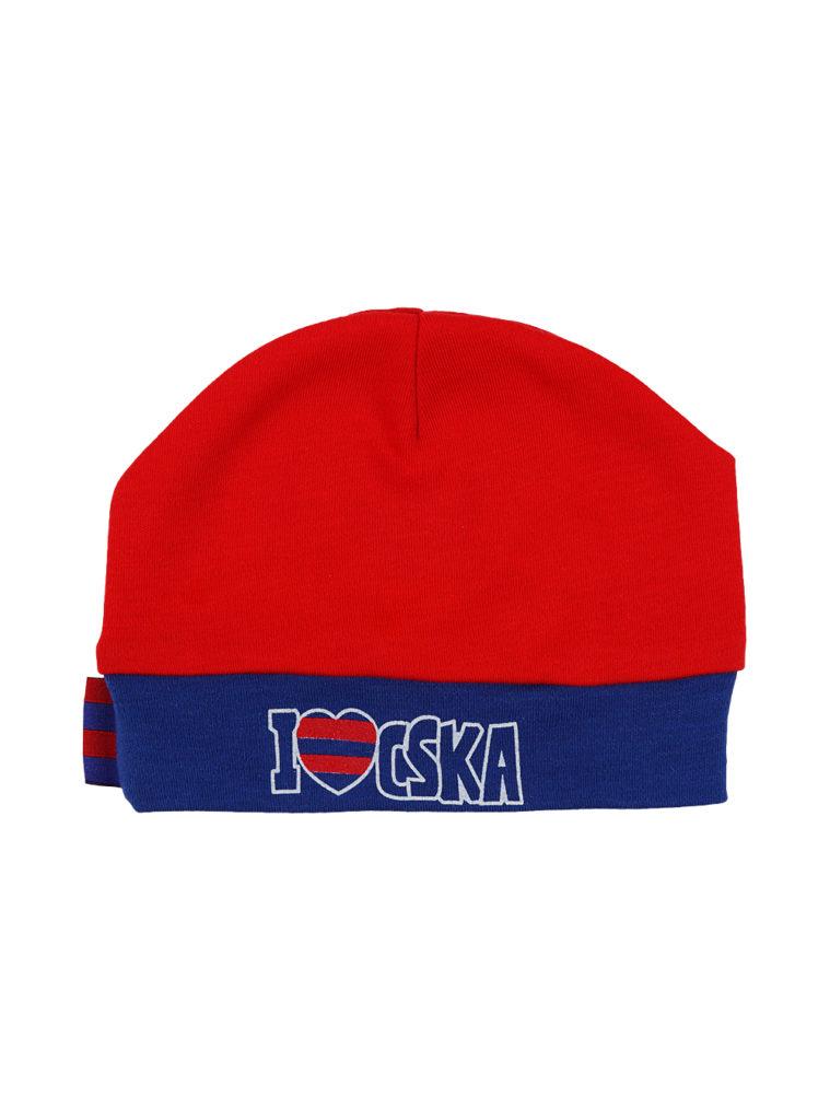 Купить Шапочка детская «I love CSKA», цвет красный (40 (3-6 мес.)) по Нижнему Новгороду