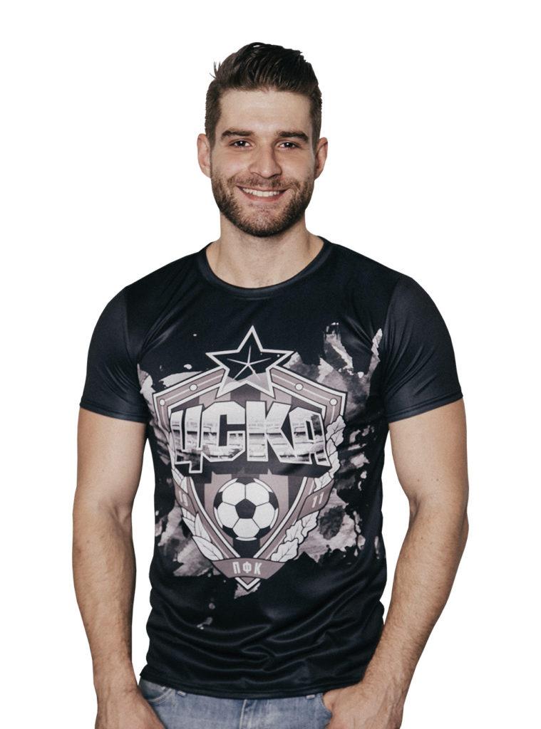 Купить Футболка мужская «Эмблема», цвет чёрный (XL) по Нижнему Новгороду