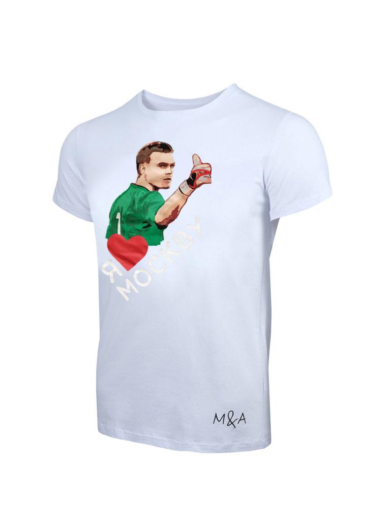 Купить Футболка «Акинфеев», цвет белый (XL) по Нижнему Новгороду