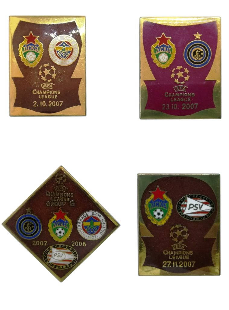 Купить Набор коллекционных значков ЛЧ 2007-2008 Group G (4 шт.) , цвет коричневый по Нижнему Новгороду