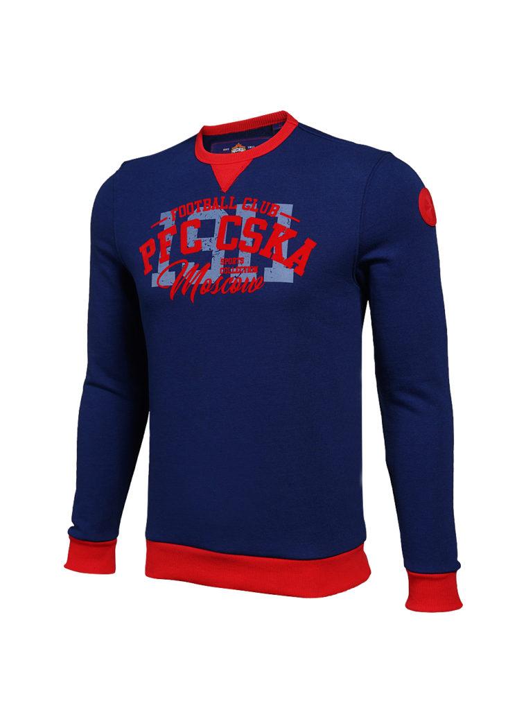 Купить Свитшот мужской PFC CSKA, цвет синий (XXL) по Нижнему Новгороду