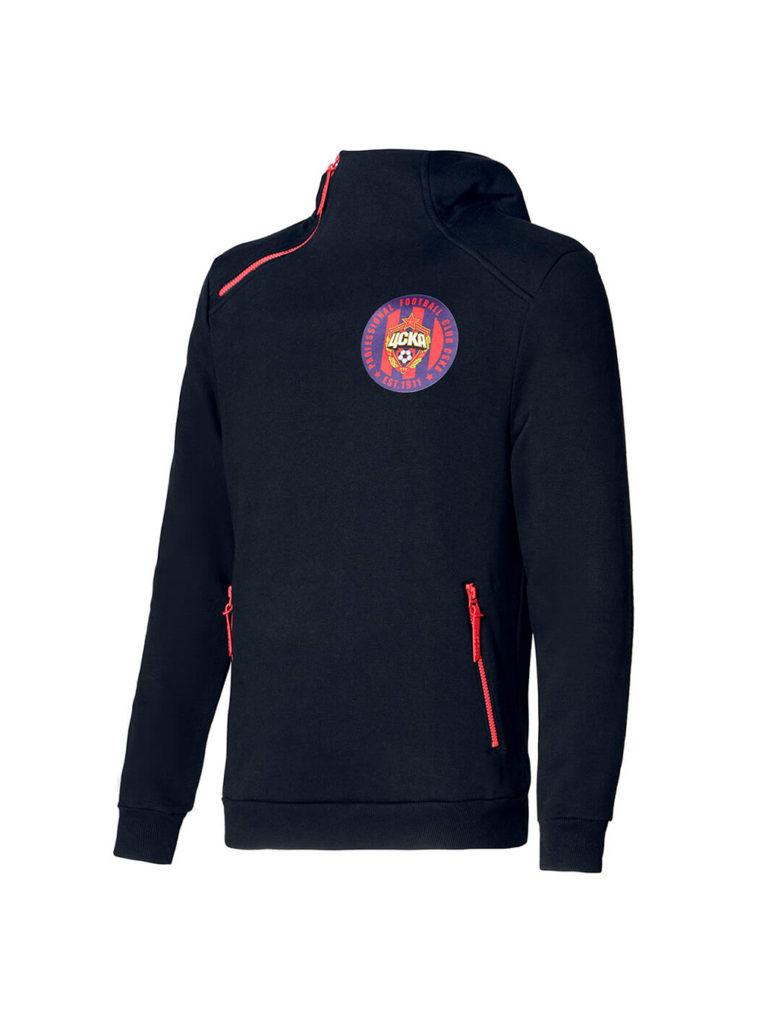 Купить Худи женское PFC CSKA est 1911, цвет чёрный (S) по Нижнему Новгороду