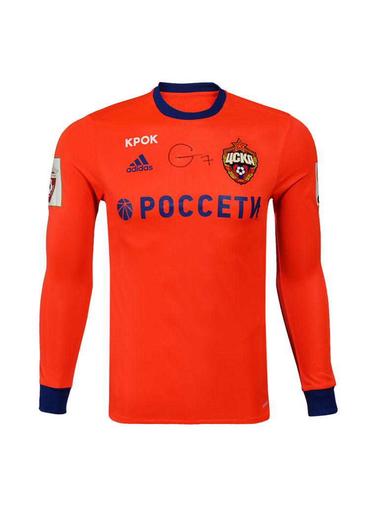 Купить Игровая футболка выездная с длинным рукавом (оригинал) с автографом МУСЫ (5) по Нижнему Новгороду