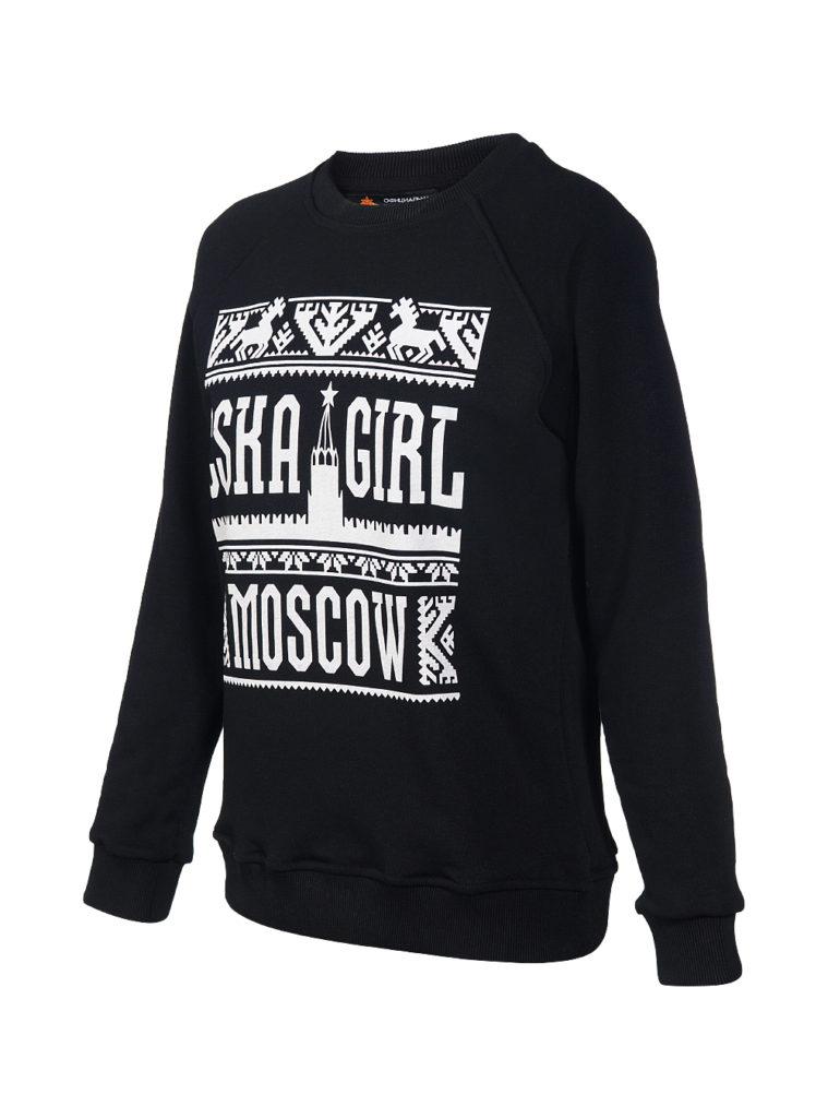 Купить Свитшот женский «CSKA GIRL MOSCOW», цвет черный (S) по Нижнему Новгороду