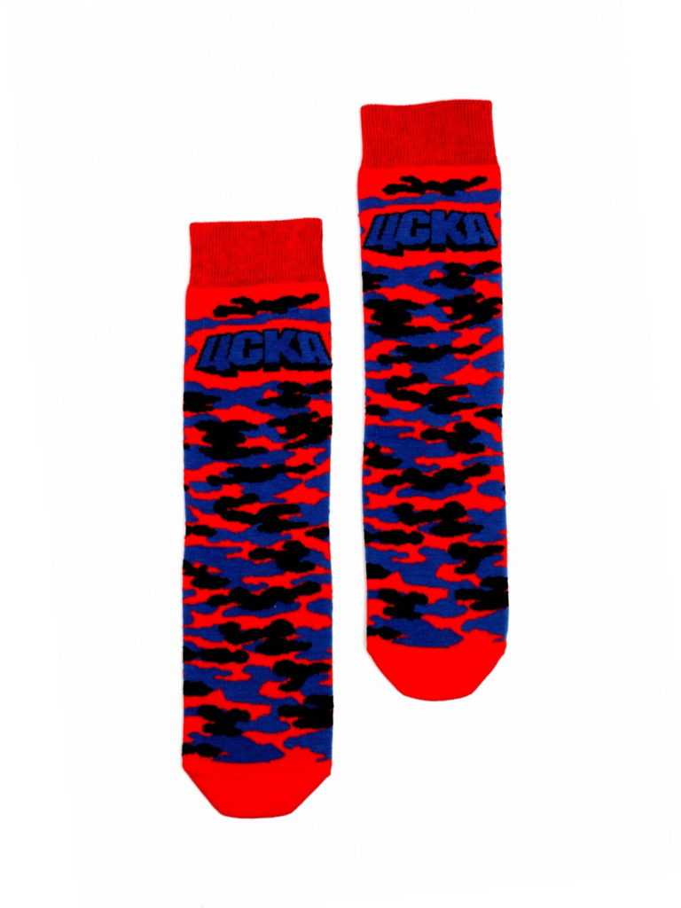 Купить Носки детские Милитари,цвет красно-синий (33-34) по Нижнему Новгороду