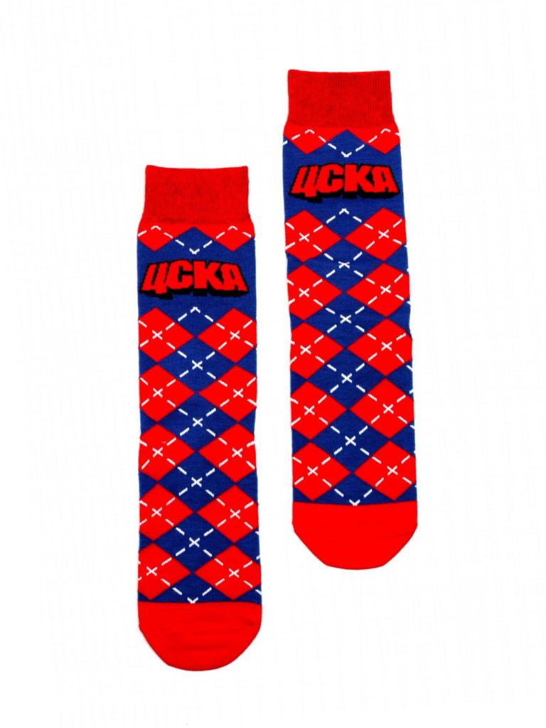Купить Носки детские Ромбы, цвет красно-синий (35-36) по Нижнему Новгороду