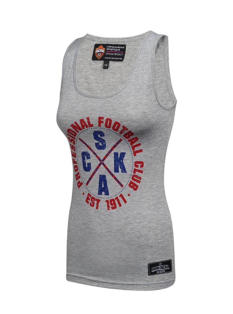 Купить Майка женская CSKA, цвет серый (XS) по Нижнему Новгороду