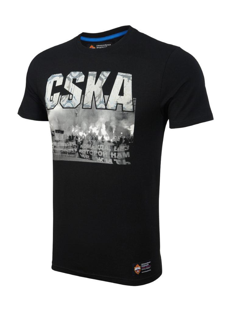 Купить Футболка мужская «CSKA FANS», цвет черный (M) по Нижнему Новгороду