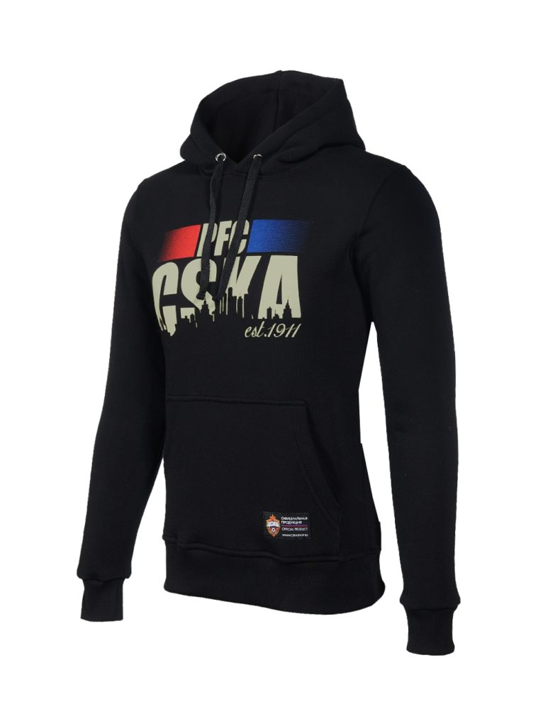 Купить Толстовка женская «PFC CSKA est.1911», цвет черный (S) по Нижнему Новгороду