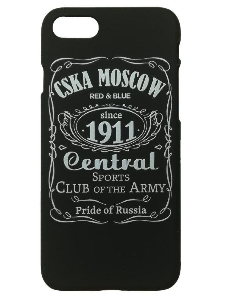 Купить Клип-кейс для iPhone 7/8  «CSKA MOSCOW 1911» cover, цвет чёрный по Нижнему Новгороду