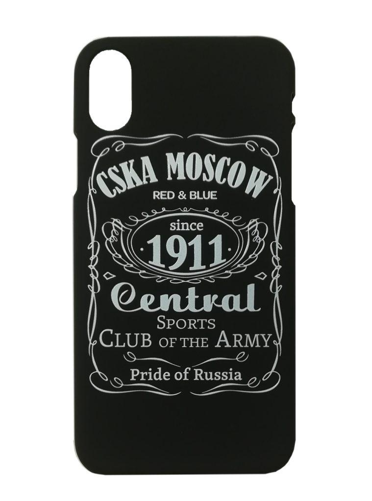 Купить Клип-кейс для iPhone Х «CSKA MOSCOW 1911» cover, цвет чёрный по Нижнему Новгороду