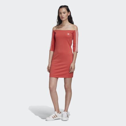 Купить Платье Off-the-Shoulder adidas Originals по Нижнему Новгороду