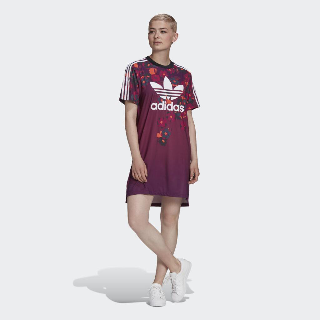 Купить Платье-футболка HER Studio London adidas Originals по Нижнему Новгороду