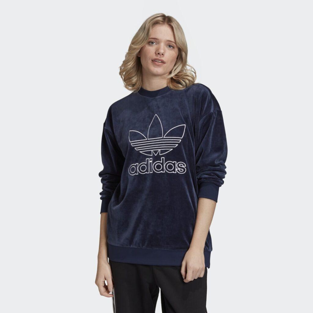 Купить Велюровый свитшот Trefoil adidas Originals по Нижнему Новгороду