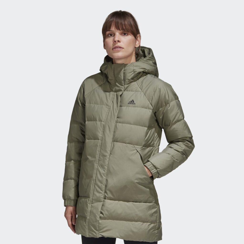 Купить Удлиненная куртка-пуховик adidas Performance по Нижнему Новгороду