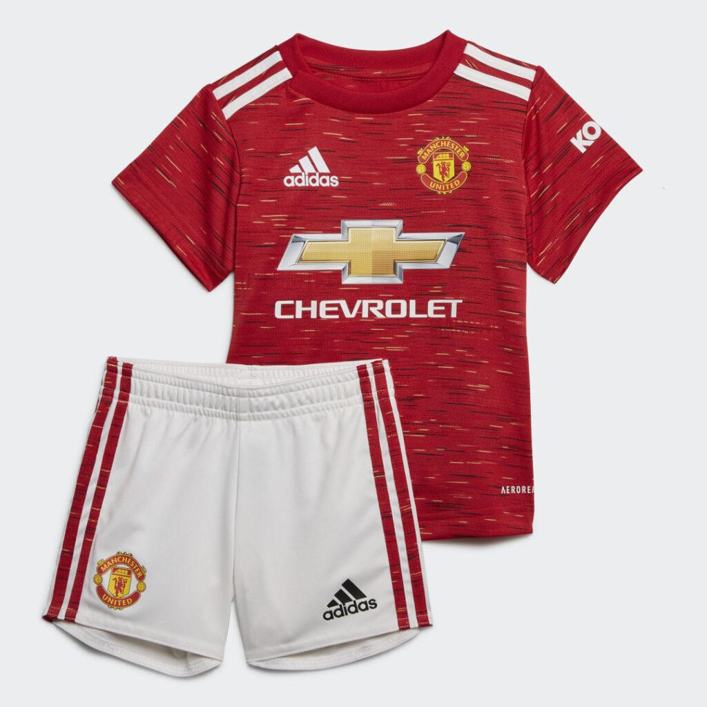 Купить Комплект: футболка и шорты Манчестер Юнайтед 20/21 Baby adidas Performance по Нижнему Новгороду