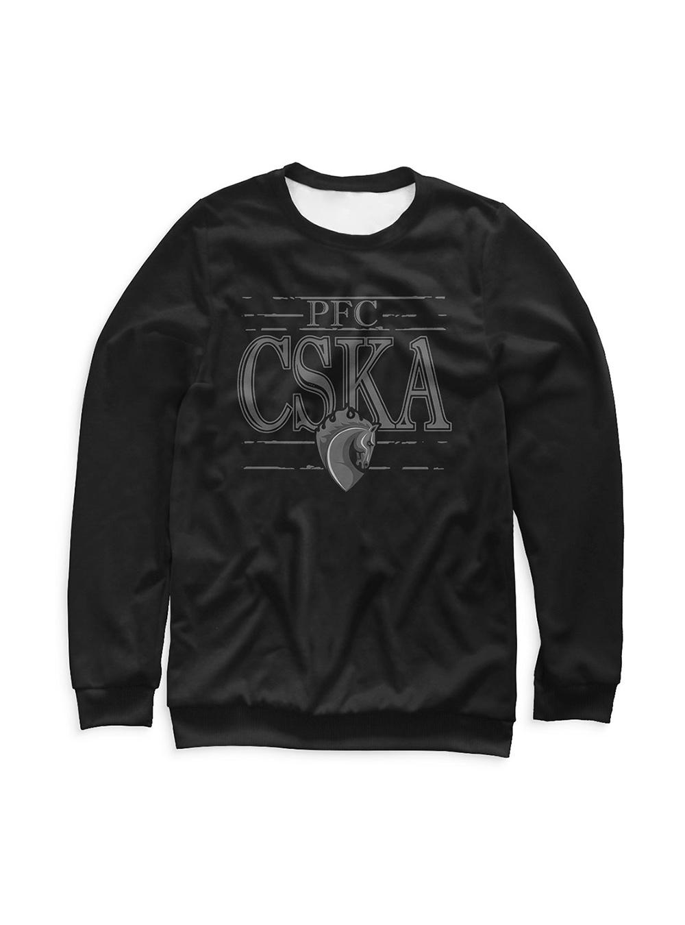 Купить Свитшот детский «PFC CSKA. Талисман», цвет черный (134) по Нижнему Новгороду